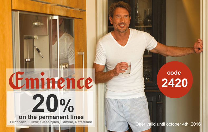 Save 20% on Eminence permanente lines