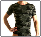 New camouflage. Show your virility. Printed viscose...