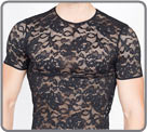 A line 100% lace, declined in string, thonh, trunk and tee-shirt. Transparency...