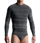 A long sleeves polyester material worked graphically-based bodyslip. A very exclusive model for advanced amateurs.