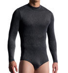 A long sleeves polyamide material worked graphically-based bodyslip. A very exclusive model for advanced amateurs.