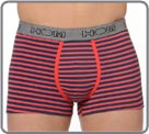 Pack of 2 boxerbriefs (1 solid red and 1 with navy and red stripes) ideal for a...