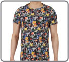 Homewear universe of HOM, the foliage line includes this t-shirt 100% cotton, A...