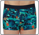 Very intense colors printed on this cotton fabric. A very tropical style of and...