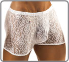 Boxer of Joe Snyder 100% lace. Unlined front pouch...