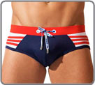 Swim brief with push-up effect. For a perfect look, exclusive system. a and...