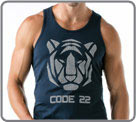 Semi-fitted tank made with 100% cotton. Contrasted with tiger head pattern, and...