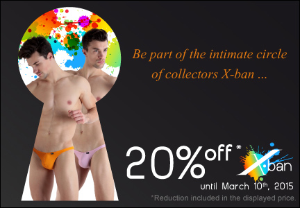 Save 20% on sexy X-Ban underwear
