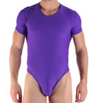 Dancing T-bodystring, Body string round neck tee-shirt top. Cut close to the body. Opening to the crotch (by Staples). Material pleasantly stretch polyamide. Unlined front pouch.