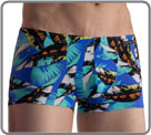 Swim Shorty. Lightweight and very stretchy bath material with inkjet prints...