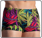 Ultra-elastic beachwear fabric, lightweight, with floral print. This swim will...