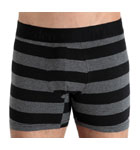 Robust and covering boxerbrief, carried out in a cotton of quality. Model with stripes all over. Matched color waist band with centered logo in relief Eden Park. Lined at the front.