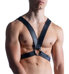 A beautiful imitation leather and the comfort of a mat and stretchy material. A classic male and effective.