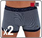 Pack 2 boxers in a very nice stretch cotton material. A fitted cut for an and a...
