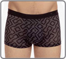 A very fine and everything in transparency matter. Graphic print. Boxerbrief...
