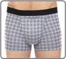 A timeless woven plaid pattern for masculine, elegant underwear...