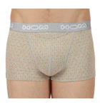 Pack of 2 boxerbriefs (1 plain orange, 1 printed) ideal for daily wear. H01 opening, inconic detail of the brand. Microfiber waistband with logo incrusted all around. Unlined front pouch. Comfort and simplicity at a soft price.