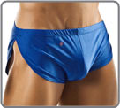Running shorts, original underwear, open on the sides. Unlined front pouch...