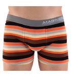 Extremely comfortable thanks to majority cotton, this boxerbrief will delight all the lovers of classic cut underwears but with an accent of whimsy thanks to stripes in cameo. Rubber waistband with logo on the side. Lined front pouch.