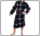 Men's house coat with polar fur double-sided, (one plain side, one printed pads...