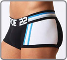 Wide waist band and big logo centered. Sport Asymétrique is distinguished by on...
