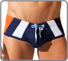 A sporty style. Swim brief with push-up effect. DrawString with metal tips...