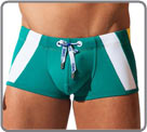 A sporty style. Swim boxerbrief with push-up effect. DrawString with metal...