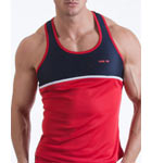 Semi-fitted tank made with quick dry fabric. Contrasted in neon with the iconic Code 22 logo printed high frequency.