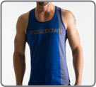 100% cotton semi-adjusted tank top. Back swimmer...