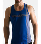 100% cotton semi-adjusted tank top. Back swimmer.