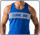 Semi-fitted tank made with 100% cotton. The Code 22 logo at the front is formed...