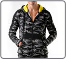 Urban Camo hooded jacket. Long sleeves, adjustable hood. Semi-fitted jacket in...