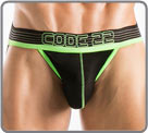 Low waisted Jockstrap with super soft elastic belt, neon green accented Code 22...